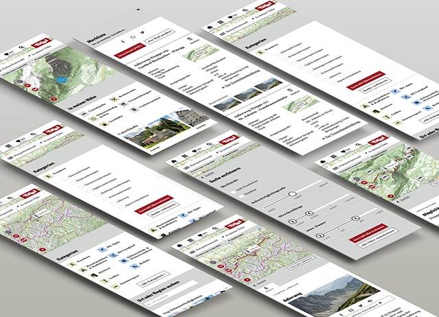 finales Design der neuen Kartenanwendung der Tirol Werbung