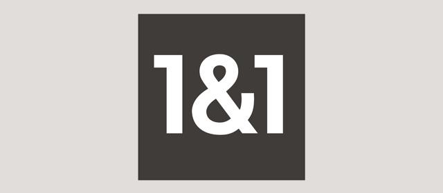 Schwarzweiß Logo der 1&1 Ionos SE.
