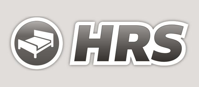 Schwarzweiß Logo der HRS GmbH.