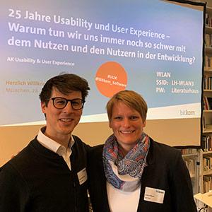 Martin Beschnitt (Geschäftsführender Gesellschafter) und Lorena Meyer (eresult Standortleitung München)