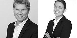 Personenbilder von Holger Fischer und Johanna Möller.