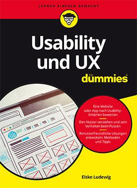Buchtitel von Usability und UX für Dummies