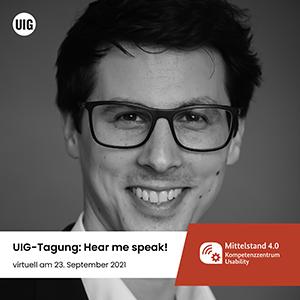 Martin Beschnitt nimmt als Speaker bei der UIG Tagung teil.