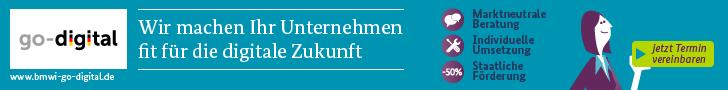 Banner der go-Digital Kampagne der BMWI