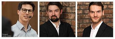 Referenten Martin Beschnitt, Richard Bretschneider und Robin Nagel