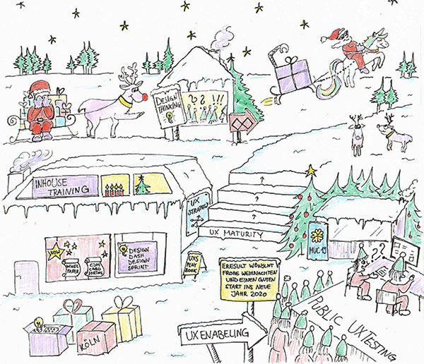 Titelbild des Weihnachtsmailing der Eresult GmbH.
