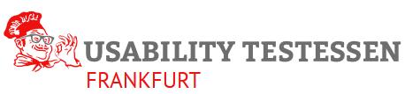 Logo des Usability Testessen in Frankfurt.