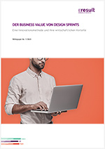 "Titelbild des White Papers ""Der Business Value von Design Sprints""."