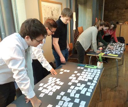 Offline Card Sorting in einer Anwendergruppe