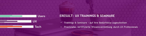 Logo der eresult UX-Training-Seminare