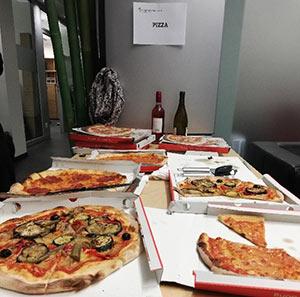 Usability Testessen in München bei Pizza, Bier und Brause