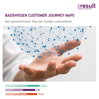 Basiswissen Customer Journey Maps Guide: Das Cover zum Whitepaper