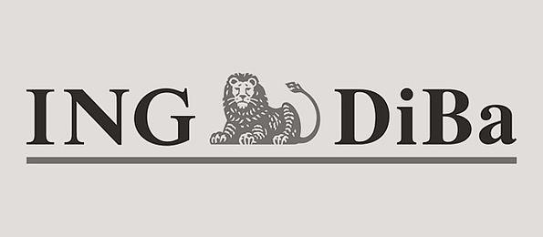 Schwarzweiß Logo der ING-DiBa AG.