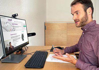 Setup des Interviewers & des Testobjekts in der Desktop-Anwendung
