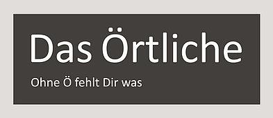 """Schwarzweiß Logo des Telekommunikationsverzeichnis """"Das Örtliche""""."""