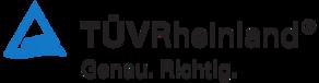 Logo des Unternehmens TÜV Rheinland.