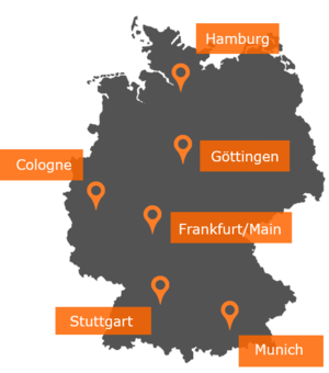 eResult offices in Germany: Hamburg, Cologne, Frankfurt, Göttingen