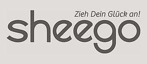 Schwarzweiß Logo der Website Sheego.