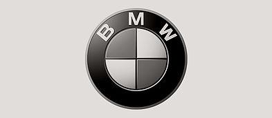 Schwarzweiß Logo der BMW Group.