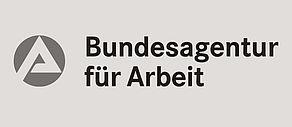 Schwarzweiß Logo der Bundesagentur für Arbeit.