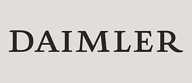 Schwarzweiß Logo der Daimler AG.
