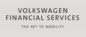 Schwarzweiß Logo der Volkswagen Financial Services AG.